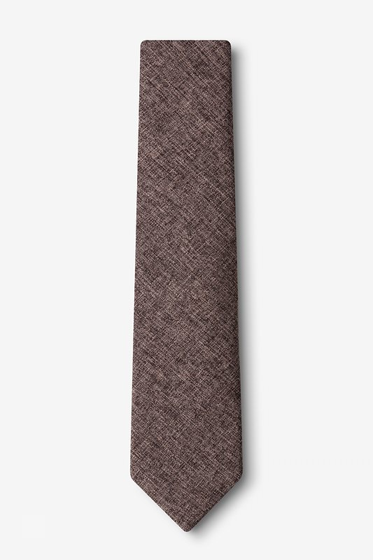 Galveston Dark Brown Skinny Tie Photo (1)