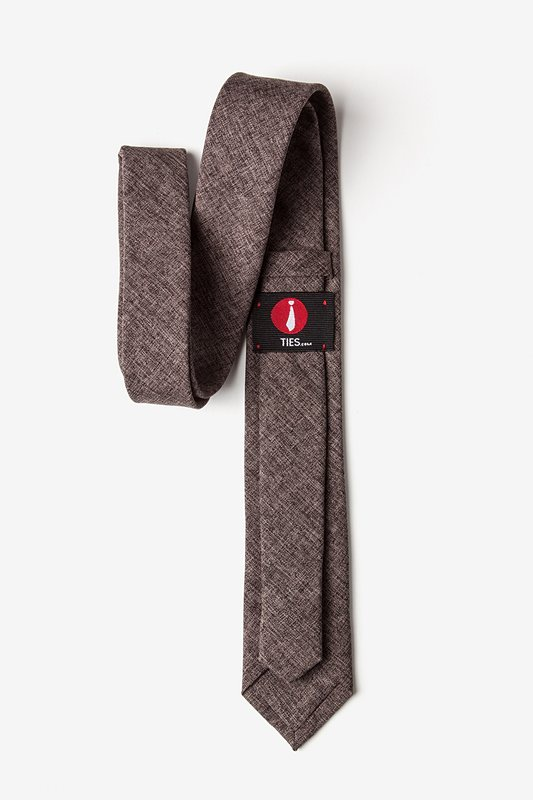 Galveston Dark Brown Skinny Tie Photo (2)