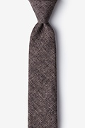 Dark Brown Cotton Galveston Skinny Tie