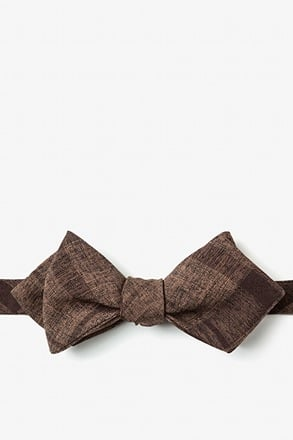 Kirkland Dark Brown Diamond Tip Bow Tie