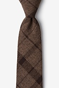 Dark Brown Cotton Kirkland Extra Long Tie