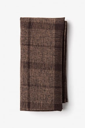 Kirkland Dark Brown Pocket Square