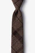 Dark Brown Cotton Kirkland Skinny Tie