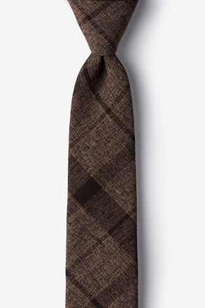 _Kirkland Dark Brown Skinny Tie_