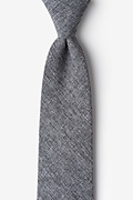 Dark Gray Cotton Denver Extra Long Tie
