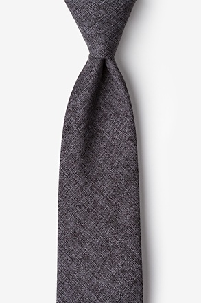 _Galveston Dark Gray Extra Long Tie_
