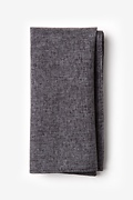 Dark Gray Cotton Galveston Pocket Square