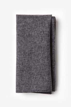 Galveston Dark Gray Pocket Square