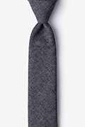 Dark Gray Cotton Galveston Skinny Tie