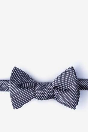 Rene Dark Gray Self-Tie Bow Tie