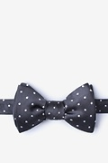 Dark Gray Silk Richards Bow Tie