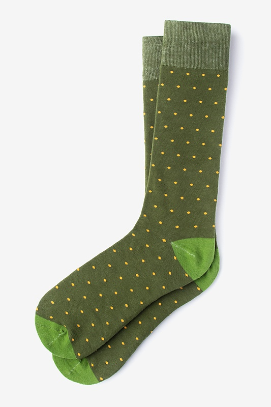 Dapper Dots Dark Green Sock