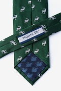 Majestic Elk Dark Green Tie Photo (2)