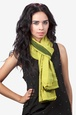 Dark Green Viscose Ariel Scarf