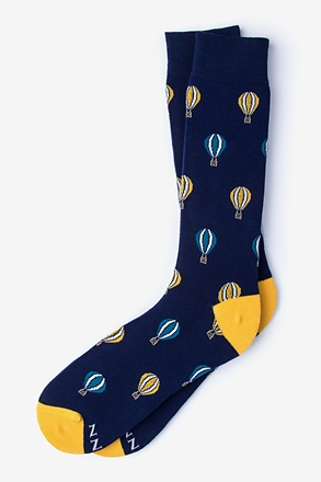 _Full of Hot Air Dark Navy Sock_