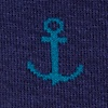 Dark Navy Carded Cotton Stay Anchored Sock