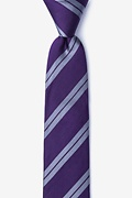 Dark Purple Silk Blackwater Skinny Tie