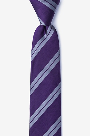 _Blackwater Dark Purple Skinny Tie_