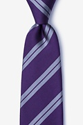 Dark Purple Silk Blackwater Tie