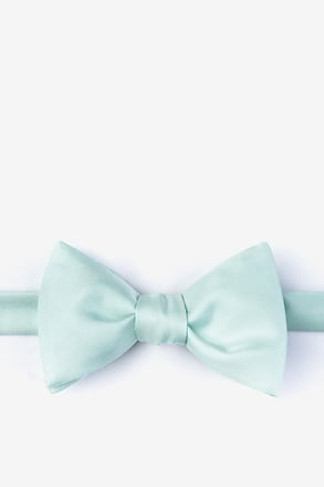 Dusty Mint Self-Tie Bow Tie