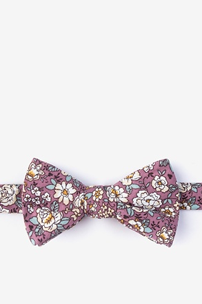 Brook Dusty Rose Self-Tie Bow Tie