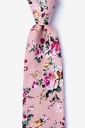 Dusty Rose Cotton Nottingham Extra Long Tie