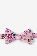 Dusty Rose Cotton Nottingham Self-Tie Bow Tie