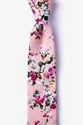 Dusty Rose Cotton Nottingham Skinny Tie