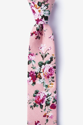 _Nottingham Dusty Rose Skinny Tie_