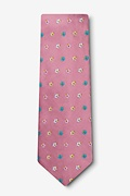 Blossoms Dusty Rose Extra Long Tie Photo (1)