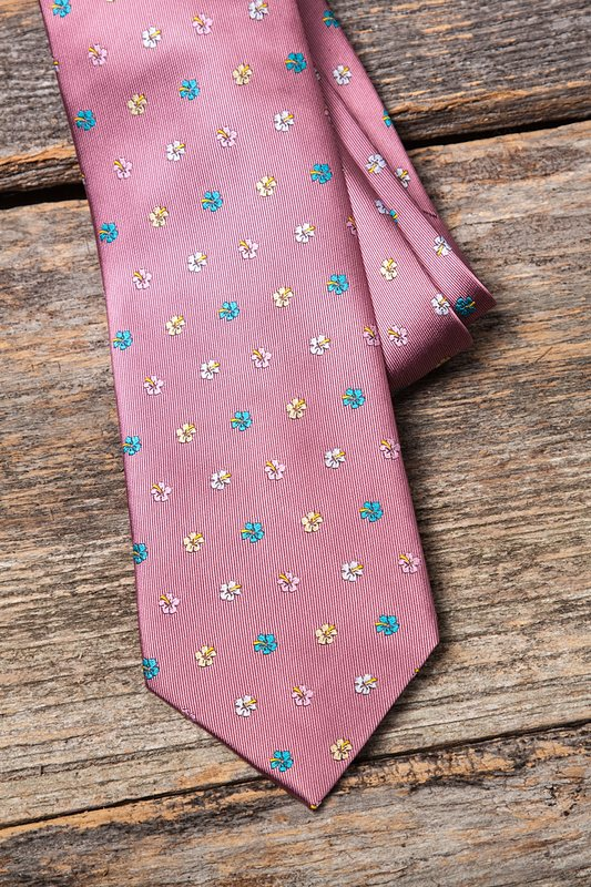 Blossoms Dusty Rose Extra Long Tie Photo (3)