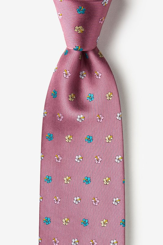Blossoms Dusty Rose Extra Long Tie Photo (0)
