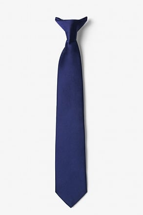 Eclipse Blue Clip-on Tie For Boys