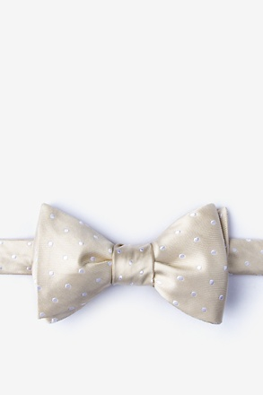 Richards Ecru Self-Tie Bow Tie