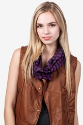 Eggplant Polyester Carnival Stripe Eggplant Infinity Scarf