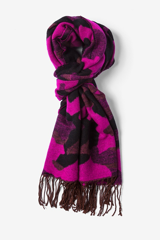 Fuchsia Montreal Camo Scarf by Scarves.com