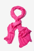 Heathered Solid Fuchsia Knit Scarf by Scarves.com