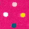 Fuchsia Carded Cotton Santa Ana Polka Dot Sock