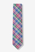 Barrette Plaid Skinny Tie