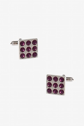 Mini Vegas Gemstone Fuchsia Cufflinks