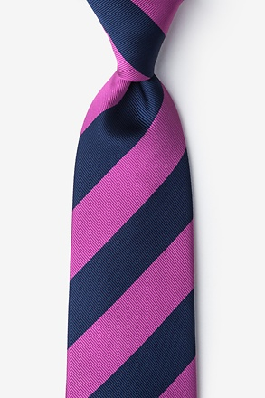 Fuchsia And Navy Stripe Tie