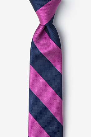 Fuchsia And Navy Tie For Boys
