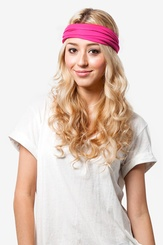 Fuchsia Polyester Basic Stretchy Headband
