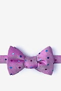 Fuchsia Silk Canary Self-Tie Bow Tie