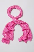 Golden Hearts Fuchsia Scarf by Scarves.com