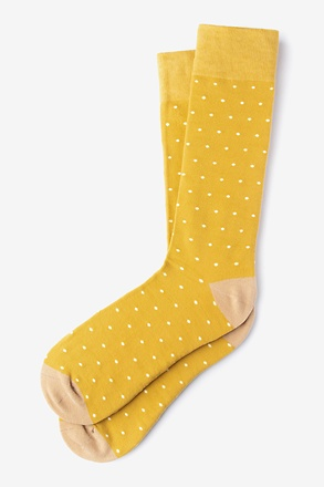 _Dana Point Dots Gold Sock_