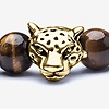 Gold Catseye Cheetah Head Bracelet