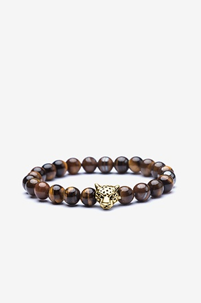 _Cheetah Head Gold Bracelet_