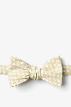 Poway Gold Self-Tie Bow Tie