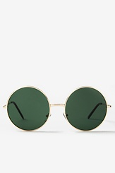 Gold Green Acetate Penny Sunglasses